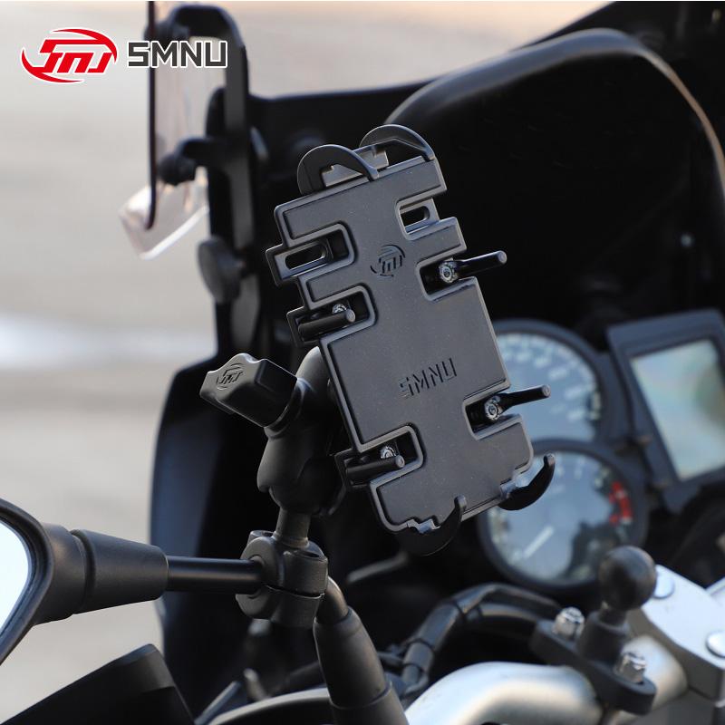 SMNU 원터치 방식 퀵그립 휴대폰 오토바이거치대