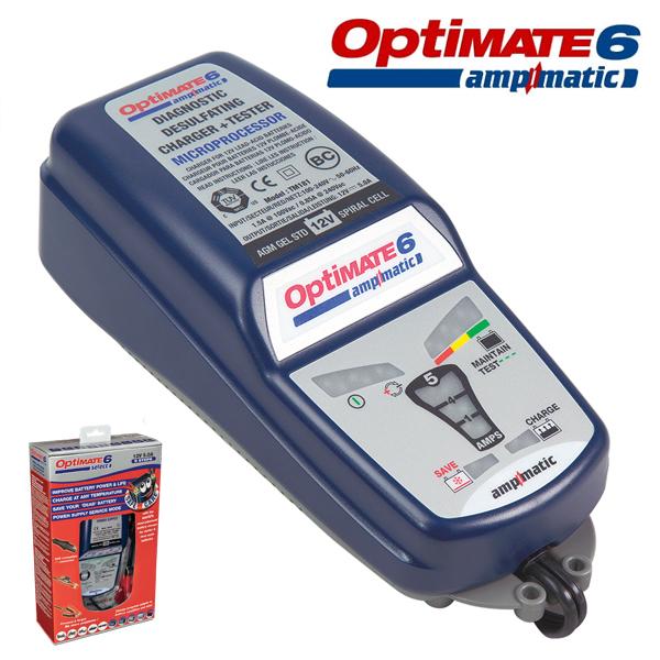 [TECMATE] OPTIMATE6 옵티메이트6 디지털배터리충전기 정식수입(220V)
